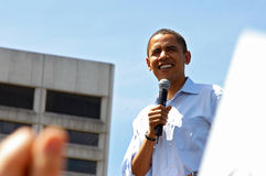 Barack Obama. In Portland, Oregon. Senator Obama made an appearance in front of 75,000 supporters (May 18, 2008 Stock Image