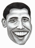 Barack Obama. United States President Barack Obama hand drawn pencil illustration Stock Photos