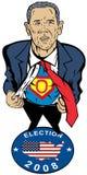 Barack Obama als Superheld Stockfotos