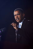 Barack Obama At Virginia Beach Stock Image