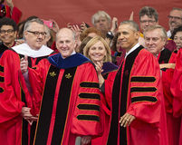 Barack Obama Attends 250th Anniversary Commencement Ceremony at Rutgers University Stock Images