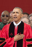 Barack Obama Attends 250th Anniversary Commencement Ceremony at Rutgers University Stock Photo