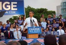 Barack Obama au stationnement de Bayfront Image libre de droits