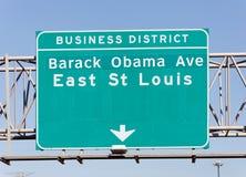 Barack Obama aveny Royaltyfri Bild