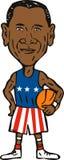 Barack Obama basketball Royalty Free Stock Images