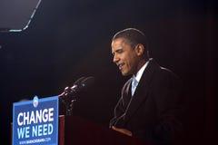 Barack Obama bei Virginia Beach Lizenzfreie Stockbilder