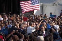 Barack Obama Campaign Rally, Fotografia Stock Libera da Diritti