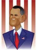 Barack Obama. Caricature Cartoon Illustration of US President Barack Obama royalty free illustration
