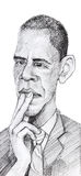 Barack Obama caricature Sketch Stock Photos