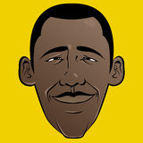 Barack Obama Cartoon Face Stock Image