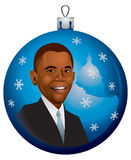 Barack Obama Christmas Ornament in vector. Barack Obama Christmas Ornament, Cartoon, American President, USA, New Year, holiday, United States Capitol, Congress vector illustration
