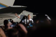 Barack Obama Cleveland Ohio image libre de droits