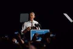 Barack Obama Cleveland Ohio Airforce en Fotografering för Bildbyråer