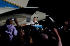 Barack Obama Cleveland Ohio Airforce en Royaltyfri Foto
