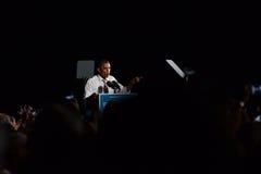 Barack Obama Cleveland Ohio Airforce en Royaltyfri Bild