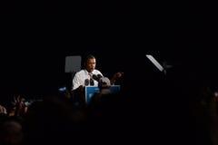 Barack Obama Cleveland Ohio Airforce en Arkivfoto