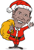Barack Obama como Papai Noel Fotos de Stock Royalty Free