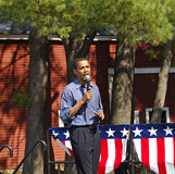 Barack Obama em Peterborough Imagens de Stock