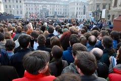 Barack Obama em Praga Fotos de Stock