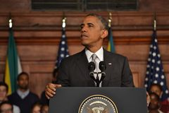 Barack Obama em UCT fotos de stock royalty free