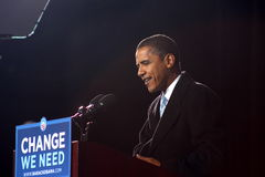 Barack Obama em Virginia Beach Imagens de Stock Royalty Free