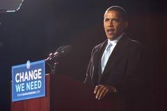 Barack Obama em Virginia Beach Imagem de Stock