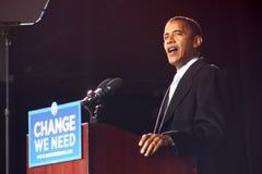 Barack Obama en Virginia Beach Imágenes de archivo libres de regalías
