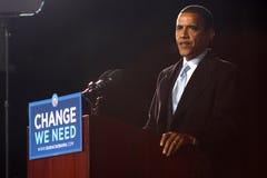 Barack Obama en Virginia Beach Foto de archivo libre de regalías