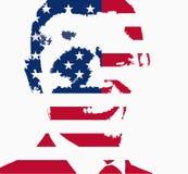 Barack Obama flag illustration. Barack Obama US flag illustration (Based on a US congress image released in the public domain since posted on the official senate royalty free illustration