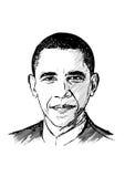Barack Obama illustration Fotografering för Bildbyråer