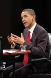 Barack Obama interview Stock Images