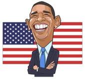 Barack Obama Karikaturvektor stockfoto