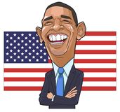 Barack Obama karikatyrvektor arkivfoto