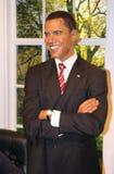 Barack Obama at Madame Tussaud's stock images