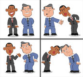 Barack Obama and Mitt Romney Cartoon Royalty Free Stock Images