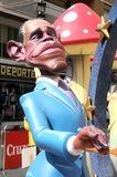 Barack Obama ninot in Fallas of Alicante, 24 June 2.014 Stock Photo