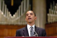 Barack Obama parla alla chiesa Fotografia Stock