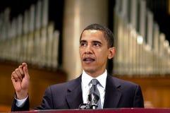 Barack Obama parle à l'église Photographie stock