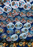 Barack Obama Pins and Buttons. Pins and Buttons celebrating the election and inauguration of President Barack Obama Royalty Free Stock Photo