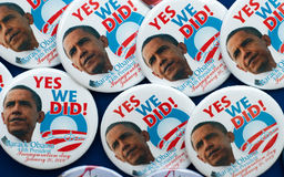 Barack Obama Pins and Buttons Stock Photos