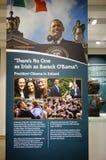 Barack Obama Plaza em Moneygall, condado de Offaly, Irlanda, casa irlandesa ancestral do presidente Obama imagem de stock