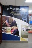 Barack Obama Plaza em Moneygall, condado de Offaly, Irlanda, casa irlandesa ancestral do presidente Obama imagens de stock royalty free