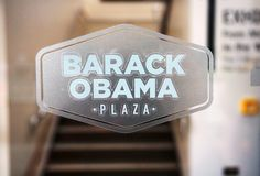 The Barack Obama Plaza in Moneygall, Offaly County, Ireland, ancestral Irish home of President Obama. MONEYGALL, IRELAND - Exhibit at the Barack Obama Plaza, a Royalty Free Stock Photography