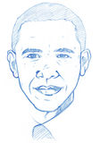 Barack Obama portrait - Pencil Version Royalty Free Stock Photography