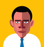 Barack Obama Portrait. Royalty Free Stock Photo