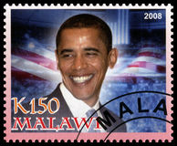 Barack Obama Postage Stamp from Malawi Stock Photography