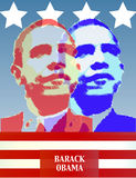 Barack Obama Poster. A poster of Barack Obama in red, white and blue Stock Photography