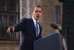 Barack Obama a Praga Fotografia Stock
