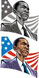 Barack Obama. President of the United States of America stock illustration