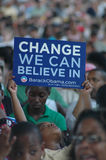 Barack Obama's rally at Nissan Pavilion royalty free stock photography